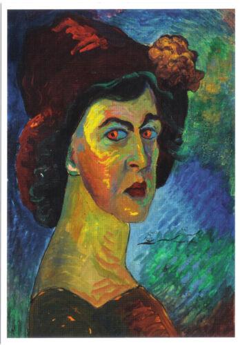 Selbstbildnis Marianne v Werefkin Kunstpostkarte
