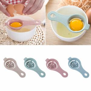 White Egg Yolk Separator Tool Easy Cooking White Sieve Plastic Kitchen Gadget