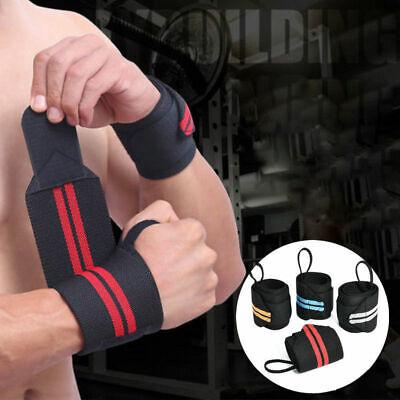 Palestra Wraps Peso Sollevamento Cinghie Da Polso Brace Support Cotone Comfort Fitness Nuovo