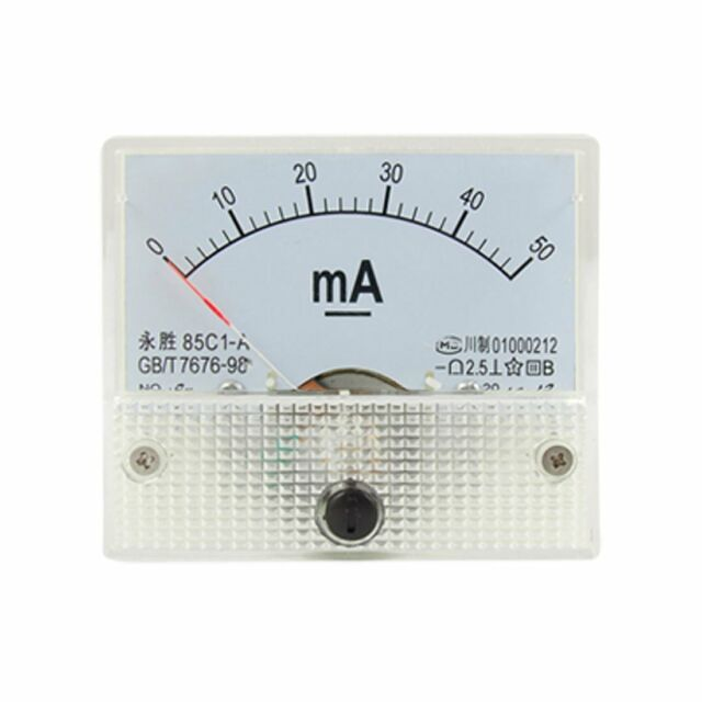 85 C1 Analoges Strommessgeraet 0-50 mA Analog DC Current Panel Meter Amperemeter
