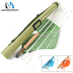 Maxcatch-Fiberglass-Fly-Fishing-Rod-3-4-5-6-8WT-S-glass-E-glass-Medium-Action