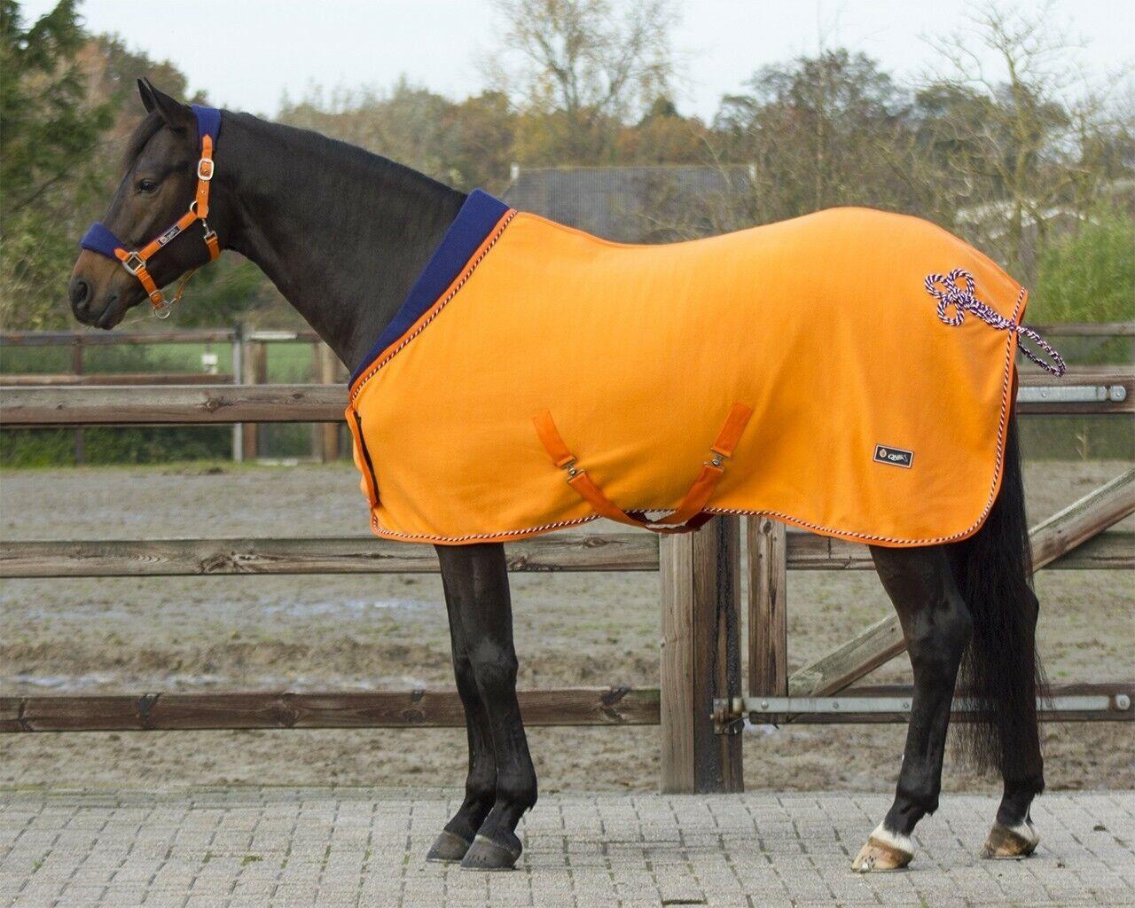 QHP Arancione Tappeto In Pile Con Colletto Blu