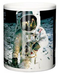 """Buzz Aldrin Mug """"Apollo 11 Moon Landing 50th Anniversary Quote"""" Ceramic Gift"""