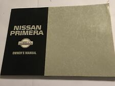 NISSAN PRIMERA P10-U SERIES OWNERS INSTRUCTION HANDBOOK MANUAL 1992