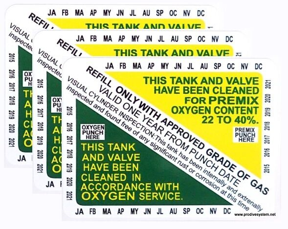 Nitrox Clean Scuba Dive Tank & Valve Inspection Certification ...