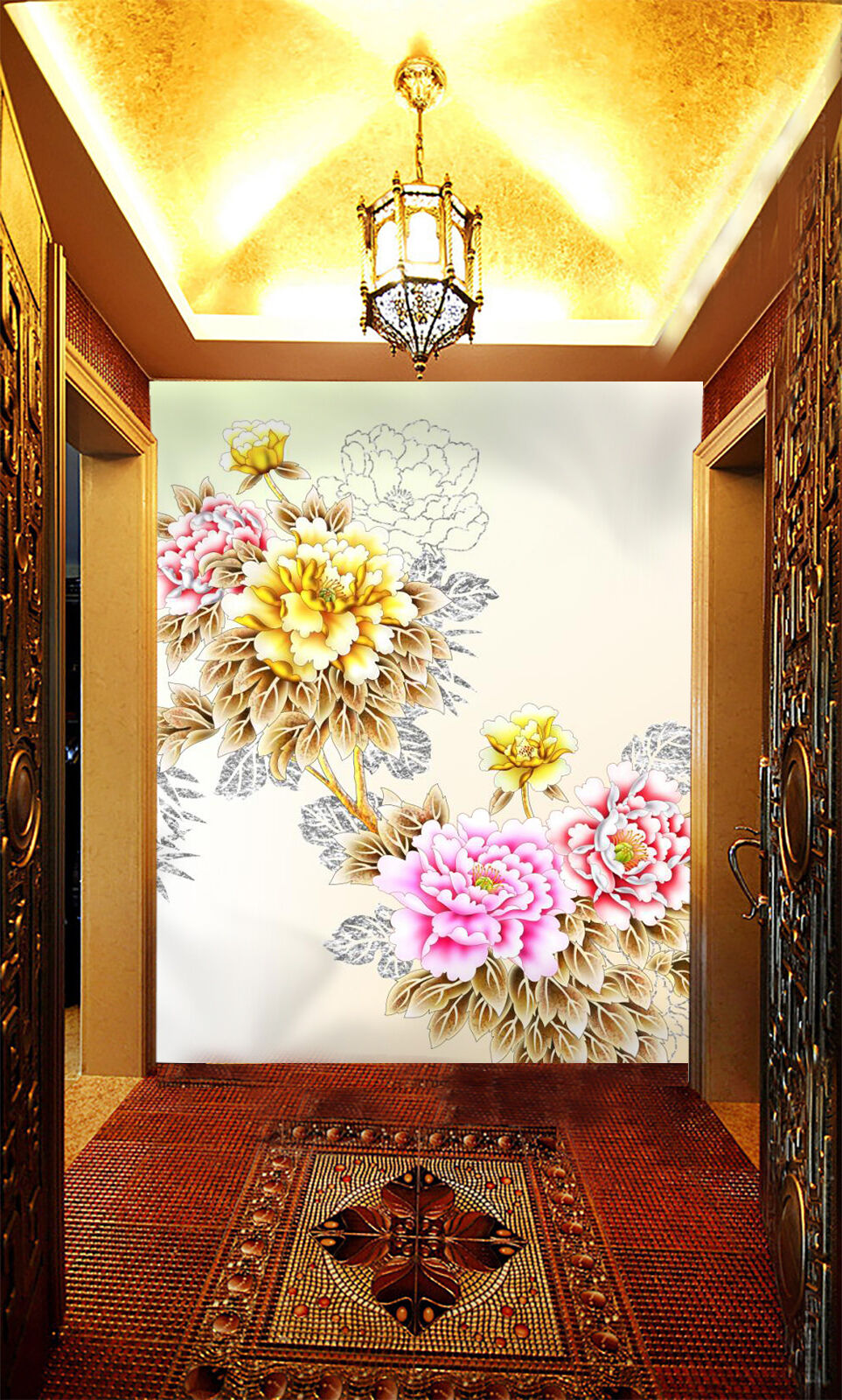 3D Rich flowers 2112 Wall Paper Wall Print Decal Wall Deco Indoor Wall Murals