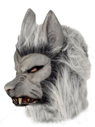 Men/'s Deluxe Werewolf Growling Overhead Fancy Dress Mask Stag Halloween Theme