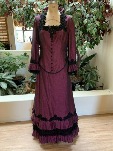 Victorian Lady Amethyst Walking Suit Dress Reenact