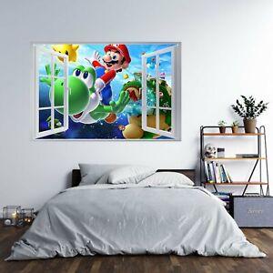 Super Mario Bross thème autocollante Poster Autocollant Mural Art Décalcomanie Murale
