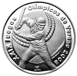 V-10p-2006-Silver-Proof-039-Baseball-Player-Beijing-Olympics-039
