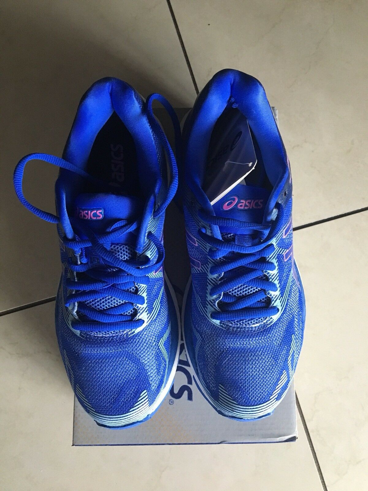 ASICS Women's GEL-Nimbus 19 shoes- bluee Purple purple Sir bluee