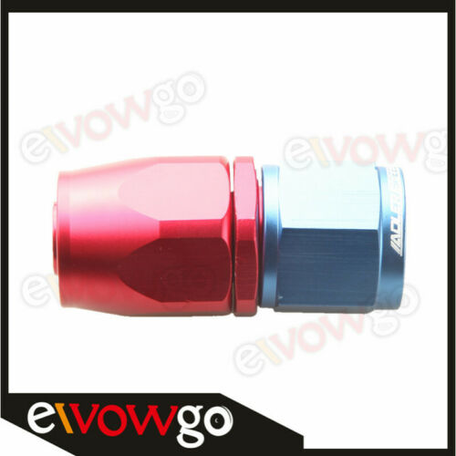 10AN AN10 AN-10 Straight Swivel Oil Fuel Line Hose End Fitting Adaptor Red//Blue