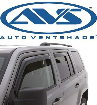 Auto Vent Shade 194981 in-Channel Vent Visor Side Window Deflector 4-Piece Set for 2014-2018 Jeep Cherokee