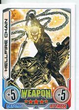 Marvel Hero Attax Series 2 Base Card #183 Hellfire Chain [Ghost Rider]