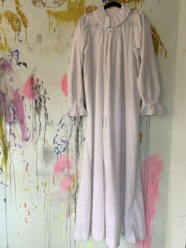Victorian Edwardian Antique Nursing Nightgown Whit