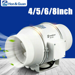 220V UK Plug 6inch In Line Air Blower Air Extractor Bathroom Kitchen Ventilation System Duct Inline Fan
