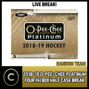 2018-19-O-PEE-CHEE-PLATINUM-HOCKEY-4-BOX-HALF-CASE-BREAK-H679-RANDOM-TEAMS