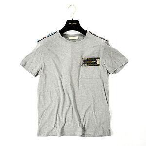 Gris cuello redondo con Navajo con Camiseta Valentino m cuentas Garavani txzOTq