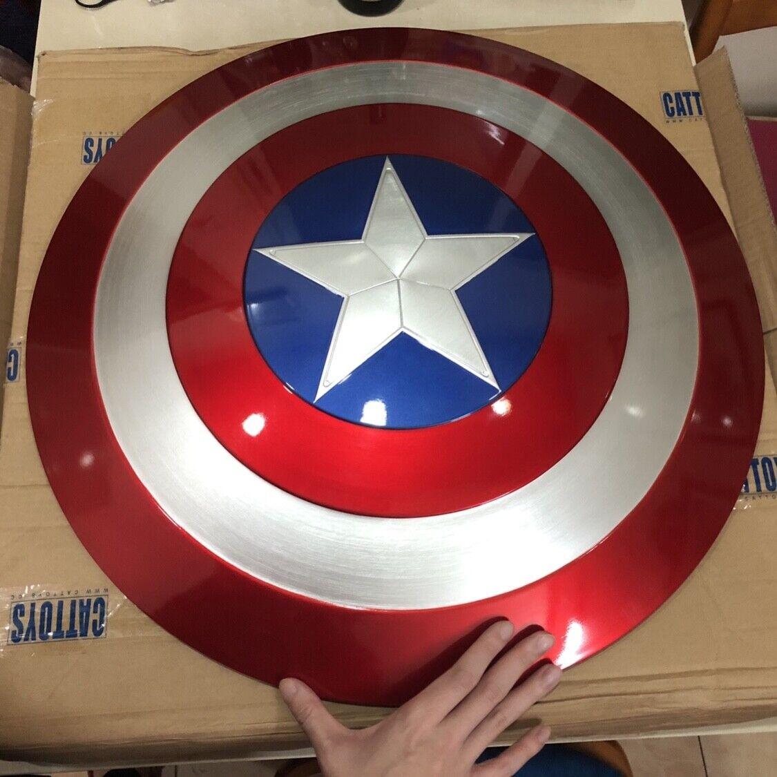 CATTOYS 1 1 Los Vengadores Capitán América ABS Escudo De Cuero PU Metal Fuerte