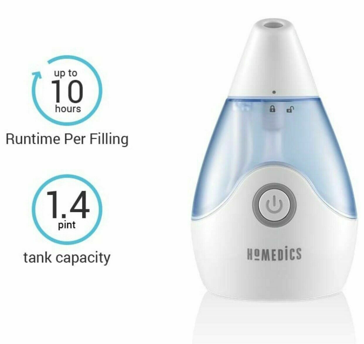 HoMedics Cool Mist Ultrasonic Personal Humidifier UHE CM15