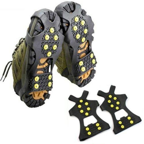 Climbing Shoe Spikes Cleats Nianl 1 pair 10 Studs Ice Gripper Spike Anti-Skid