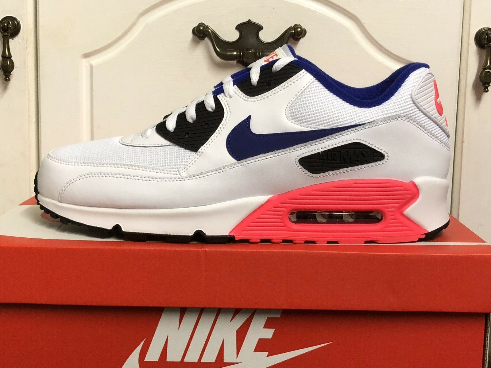 NIKE AIR AIR AIR MAX 90 ESSENTIAL TRAINERS Turnschuhe schuhe UK 13 EUR 48,5 US 14 860293