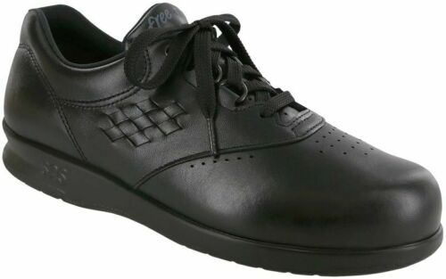 SAS FREETIME Womens Black 0083-013 Leather Comfort Lace Up Sneakers Shoes
