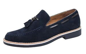 Mocassini Class Shoes Blu Slip Suede On Elegante Uomo Uomo Casual SBBrg5wfq