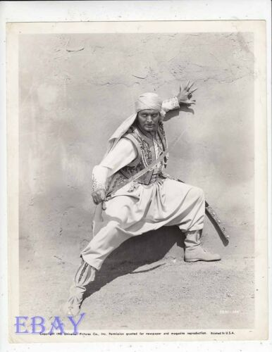 Leif Erickson wsword Arabian Nights VINTAGE Photo