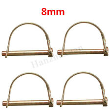 10x 10mm Shaft Locking Retaining Pin D Clip Lynch Linch Linchpin For Trailers