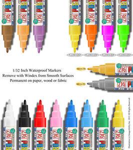 Waterproof Zig Posterman Broad Chisel Tip Paint Marker 1//4 Fluorescent Metallic