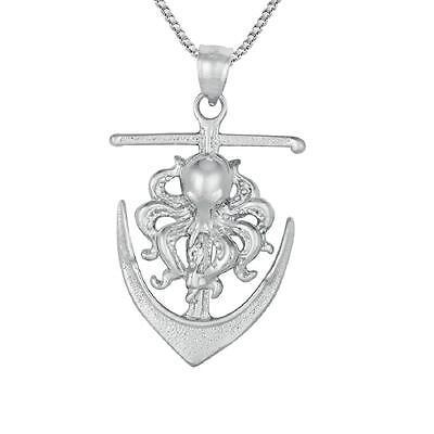 18 Italian Box Chain Made in USA SURANO DESIGN JEWELRY Sterling Silver Octopus Pendant