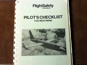 Details about FlightSafety 1124 Westwind Normal, Emergency & Abnormal  Pilot's Checklist