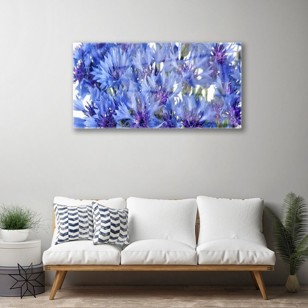 Print on Glass Glass Glass Wall art 100x50 Picture Image Flowers Floral 123c17