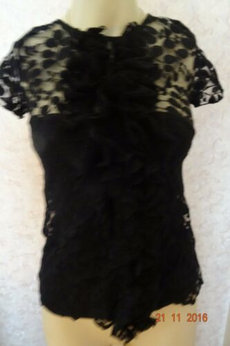 6 Clearance Black Oasis Frill Bnwt Lace Party Top Size ndYz8xAzwT