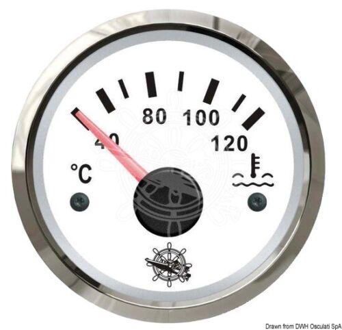 bianco//lucida Indicatore temperatura acqua 40//120