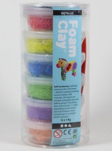 Foam Clay® Metallic Set 6x14g Modelliermasse Kugelknete