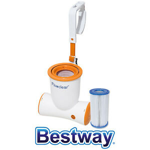 Bestway-Flowclear-Skimatic-Espumadera-de-Inmersion-Filterpumpen-Kombination