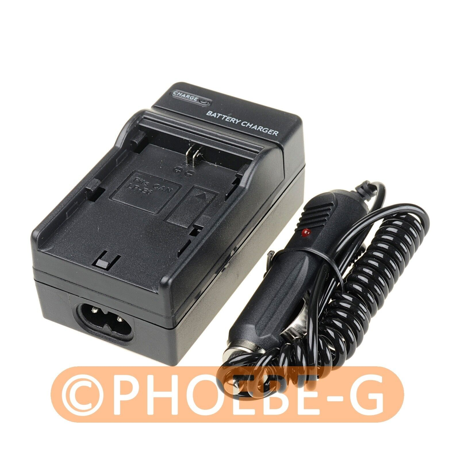 Camera Battery Car Charger LP-E6 for Canon 7D 5D Mark II 6D 60D