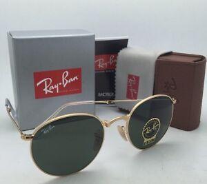 806751d3633b6 Folding RAY-BAN Sunglasses RB 3532 001 50-20 Gold Round Frame w G15 ...