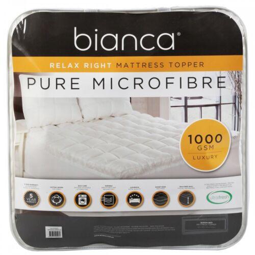 Bianca Mattress Toppers1000GSMPure Microfiber Fill50cm Wall Depth