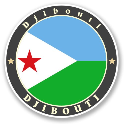 2 x 10cm Djibouti Vinyl Sticker iPad Laptop Car Flag Luggage Travel Tag #5185