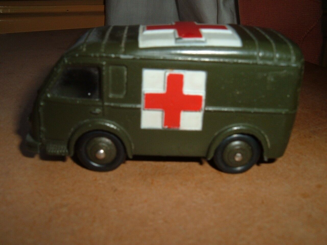 DINKY TOYS FRANCE MILITAIRE AMBULANCE (NEW DOOR) IN USED CONDITION SEE PICTURERS