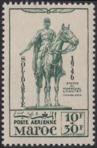 Avoir Un Esprit De Recherche France Colonie 1946 Maroc Pa N°59** Mal Lyautey Solidarite, French Morocco Mnh Divers ModèLes RéCents