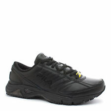 kolla upp bästa valet unik design FILA Memory Flux Slip Resistant 5sg30033-001 Black Work Shoes ...