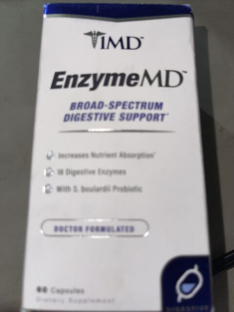1MD, EnzymeMD, Broad-Spectrum Digestive Support, 60 Capsules, Exp 06/22 D6