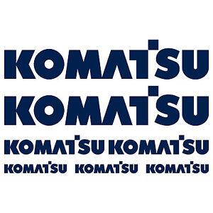 KOMATSU-XL-aufkleber-sticker-bagger-excavator-7-Stucke-Pieces