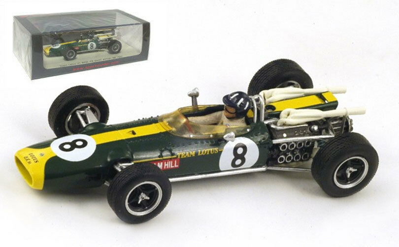 SPARK S2144 LOTUS 43 BRM  8 South African GP 1967-Graham Hill 1 43 Scale