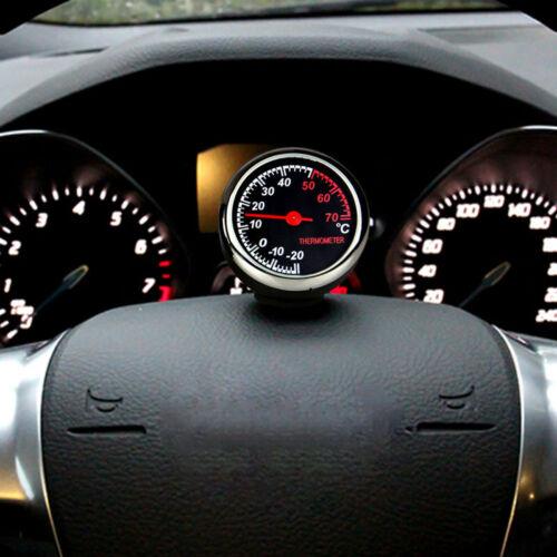 Mini Auto Car Quartz Hygrometer Time Lovely Clock  Small and senior Therm IAV
