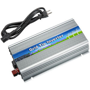 Genteel 300/500/600/1000w Mirco Grid Tie Inverter For Solar Panel Pure Sine Wave W/ Cord Electrical & Solar Home & Garden
